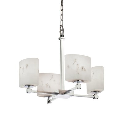 Keyon 4-Light Shaded Chandelier Finish: Polished Chrome