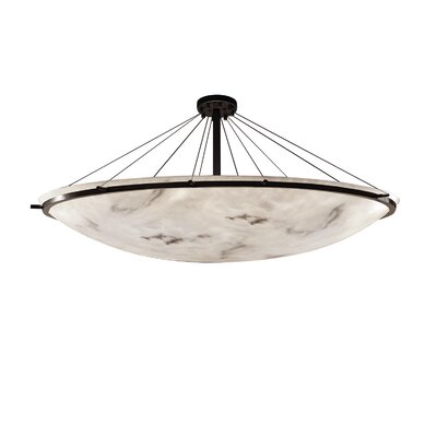 Keyon 16-Light Semi-Flush Mount Finish: Dark Bronze