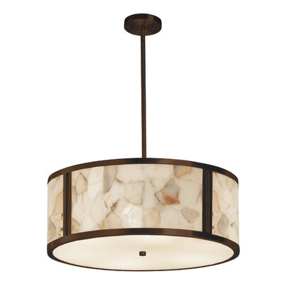 Salsbury 6 Light LED Drum Pendant Finish: Matte Black