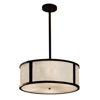 Genaro 3-Light Drum Pendant Finish: Dark Bronze
