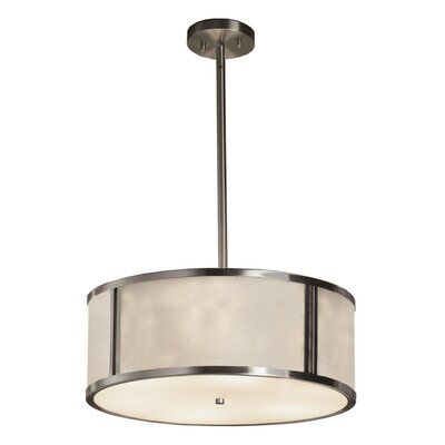 Genaro 3-Light Drum Pendant Finish: Brushed Nickel