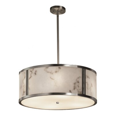 Keyon 6-Light Drum Pendant Finish: Matte Black