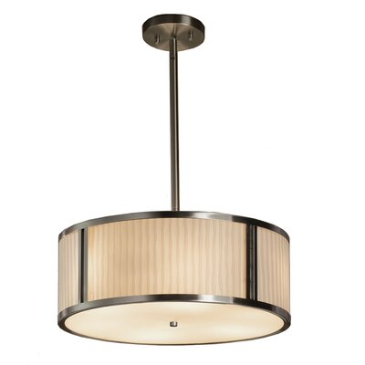 Thora 3-Light Drum Pendant Finish: Brushed Nickel