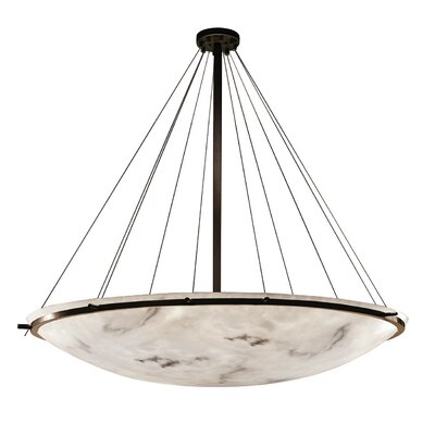 Keyon 16-Light Bowl Pendant Finish: Matte Black