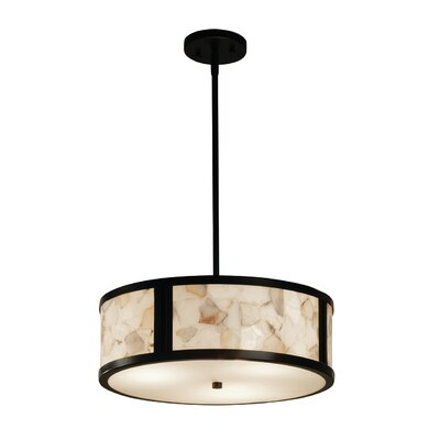 Conovan 3-Light Drum Pendant Finish: Matte Black