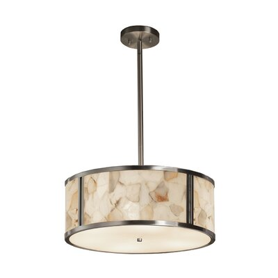 Conovan 3-Light Drum Pendant Finish: Brushed Nickel