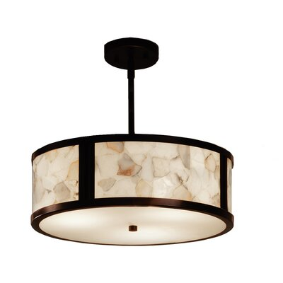 Conovan 3-Light Drum Pendant Finish: Dark Bronze