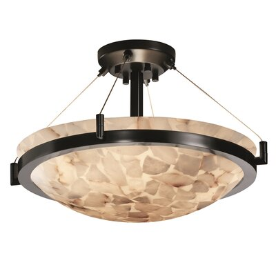 Conovan 3-Light Semi Flush Mount Finish: Matte Black