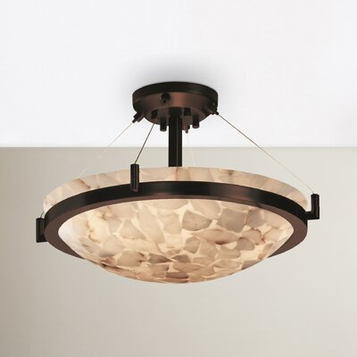Conovan 3-Light Semi Flush Mount Finish: Dark Bronze
