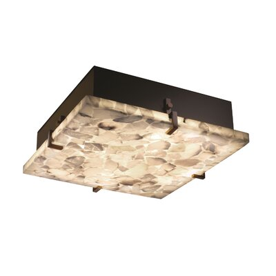 Conovan 4-Light Square Flush Mount Finish: Dark Bronze