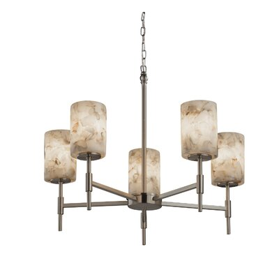 Conovan 5-Light Shaded Chandelier Finish: Brushed Nickel