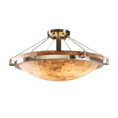 Conovan 6-Light Semi Flush Mount Finish: Brushed Nickel