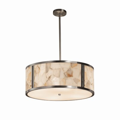 Conovan 6-Lights Drum Pendant Finish: Brushed Nickel