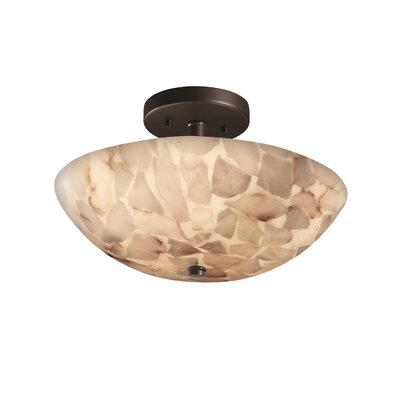 Conovan 2-Light Semi Flush Mount Finish: Matte Black