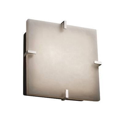 Genaro 2-Lights Clips Square Flush Mount Finish: Polished Chrome