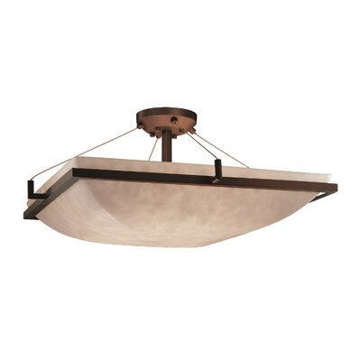 Genaro 3-Light Semi Flush Mount Finish: Dark Bronze