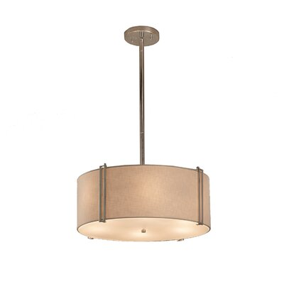 Red Hook 3 Light Drum Pendant Finish: Dark Bronze, Shade Color: White
