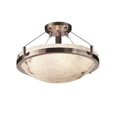 Keyon 3-Light Semi Flush Mount Finish: Brushed Nickel