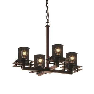 Bennett 4-Light Drum Chandelier Finish: Dark Bronze