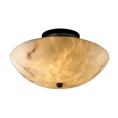 Keyon 2-Light Semi Flush Mount Finish: Matte Black