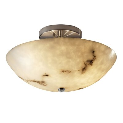Keyon 2-Light Semi Flush Mount Finish: Polished Chrome