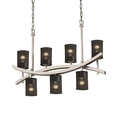Bennett 7-Light Kitchen Island Pendant Finish: Dark Bronze