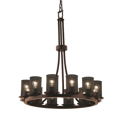 Bennett 12-Light Shaded Chandelier Finish: Brushed Nickel