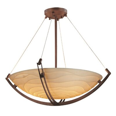 Thora 6-Light Inverted Pendant Finish: Dark Bronze, Impression: Wave