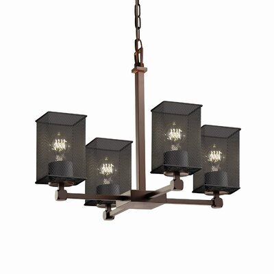 Bennett 4-Light Shaded Chandelier Finish: Polished Chrome
