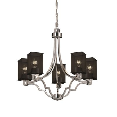 Bennett 5-Light Shaded Chandelier Finish: Polished Chrome