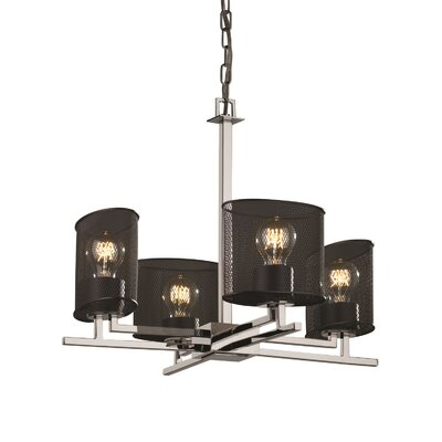 Bennett 4-Light Shaded Chandelier Finish: Brushed Nickel