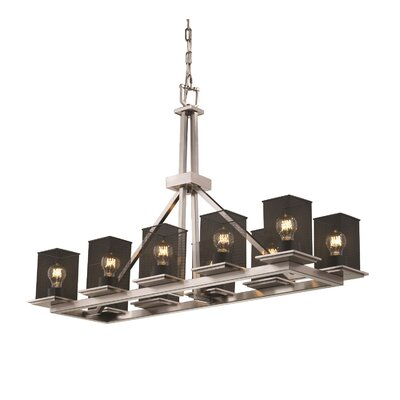 Bennett 10-Light Kitchen Island Pendant Finish: Brushed Nickel