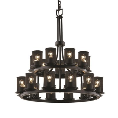 Bennett 21-Light Shaded Chandelier Finish: Matte Black