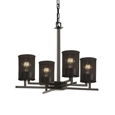 Bennett 4-Light Drum Drum Chandelier Finish: Polished Chrome