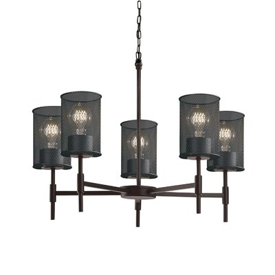Bennett 5-Light Drum Chandelier Finish: Dark Bronze