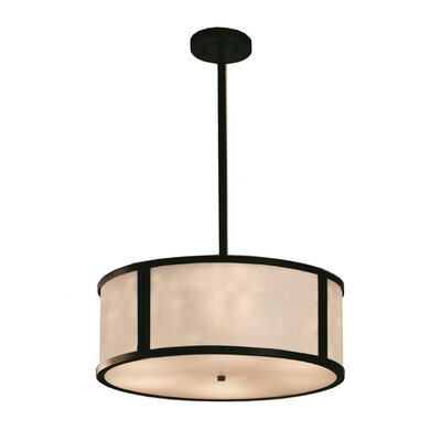 Genaro 3-Lights Drum Pendant Finish: Dark Bronze