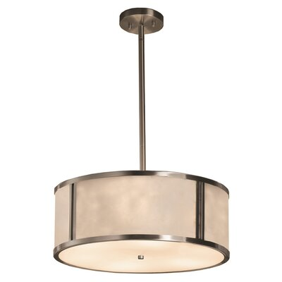 Genaro 3-Lights Drum Pendant Finish: Brushed Nickel