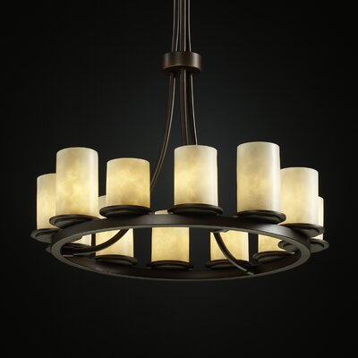 Woolwich 12-Light Shaded Chandelier Metal Finish: Dark Bronze