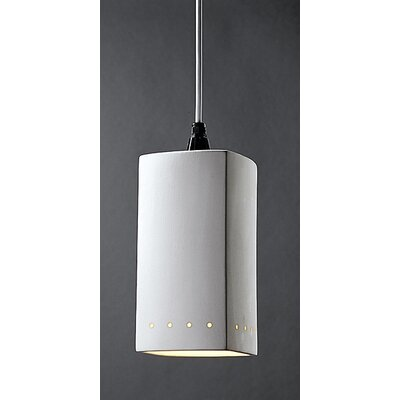 Justice Design Group Radiance 1 Light Pendant - Finish: Antique Patina, Cord Option: Black Cord, With Perfs?: No