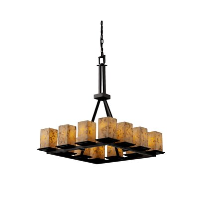 Conovan 12-Light Shaded Chandelier Metal Finish: Brushed Nickel
