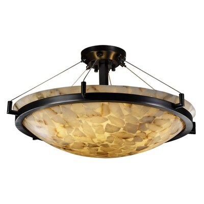 Conovan 6-Light Semi Flush Mount Finish: Matte Black