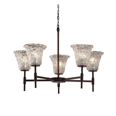 Kelli 5-Light Shaded Chandelier Finish: Dark Bronze