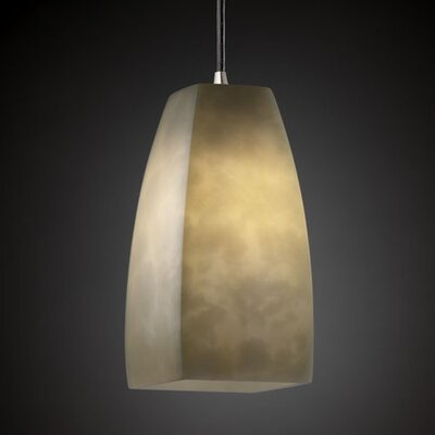 McGregor 1-Light Pendant Shade Option: Tall Tapered Square, Metal Finish: Dark Bronze