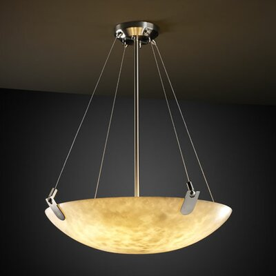 Genaro 3-Light Inverted Pendant Metal Finish: Brushed Nickel