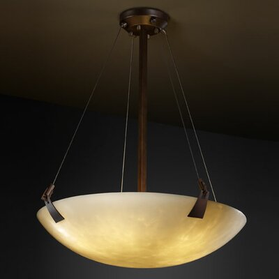 Genaro 3-Light Inverted Pendant Metal Finish: Dark Bronze