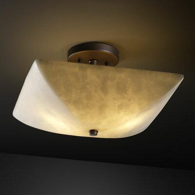 Bayern 2-Light Semi Flush Mount Finish: Antique Brass