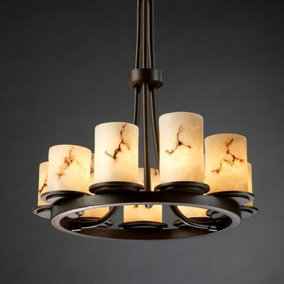 Keyon 9-Light Shaded Chandelier Metal Finish: Dark Bronze