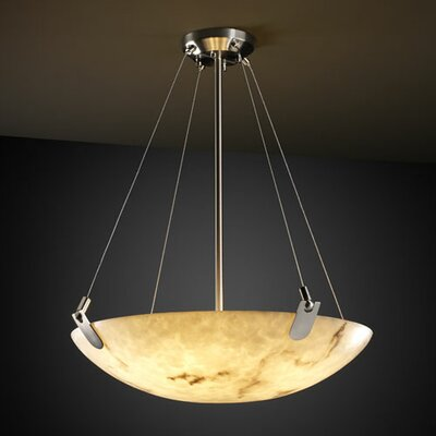 Keyon 3-Light Inverted Pendant Metal Finish: Brushed Nickel
