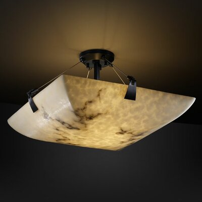 Keyon 6-Light Semi Flush Mount Finish: Matte Black