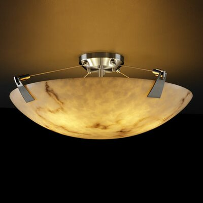 Keyon 6-Light Semi Flush Mount Finish: Dark Bronze